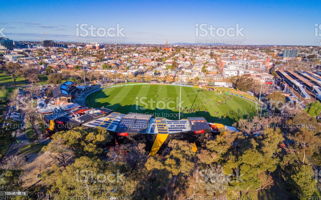 Punt Road Oval, home of the Richmond Tigers stock photo
