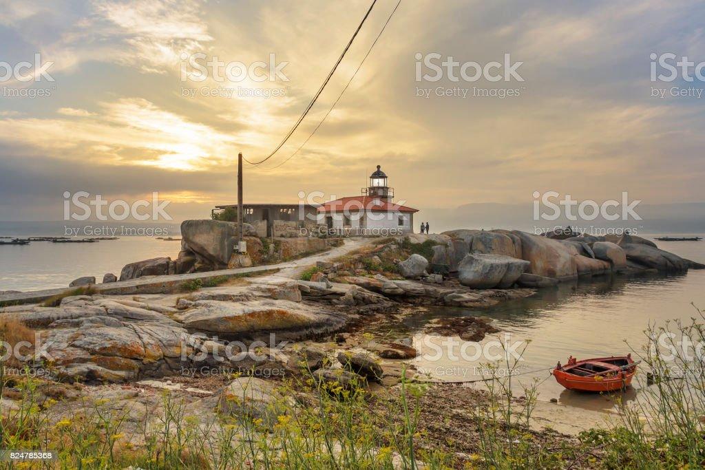 Punta Cabalo lighthouse royalty-free stock photo