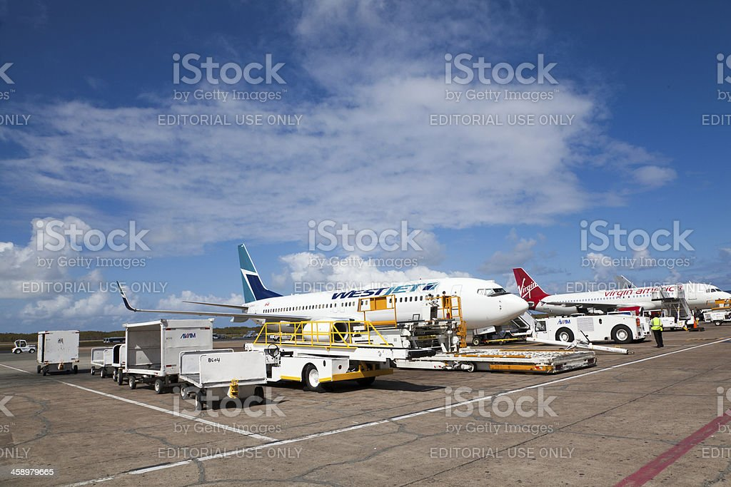 Punta Cana Airport in Dominican Republic royalty-free stock photo