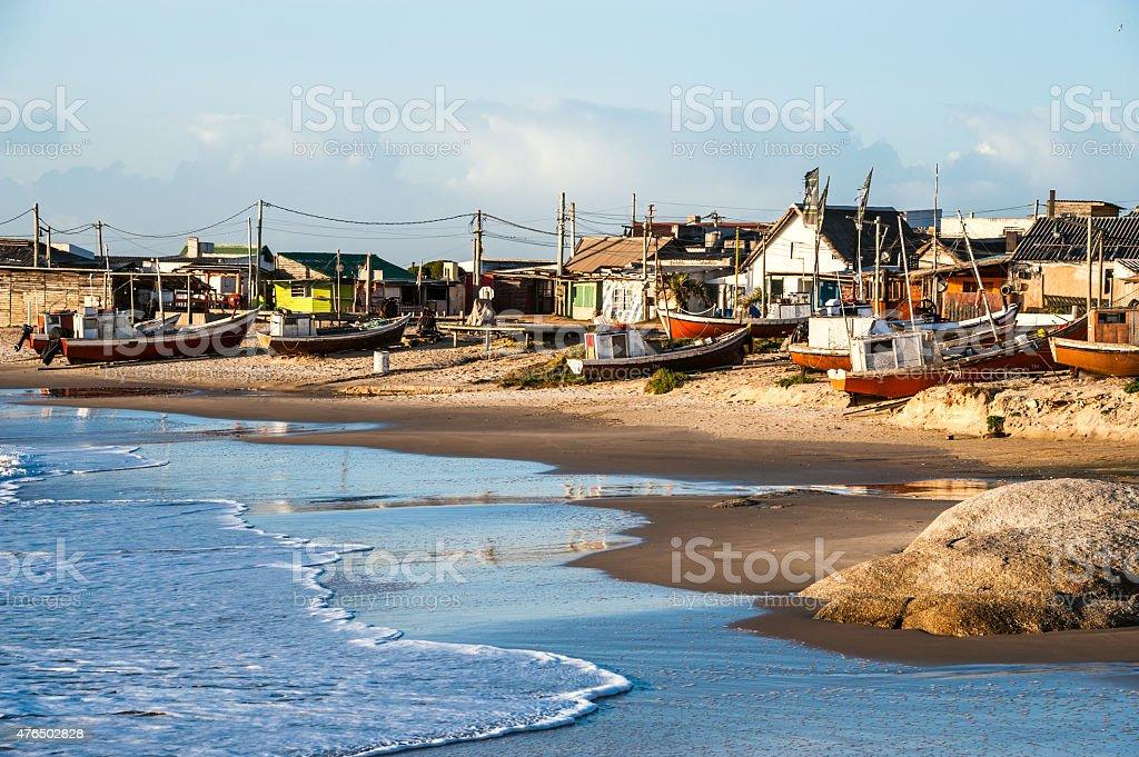 Punta del Diablo Beach, Uruguay Coast stock photo