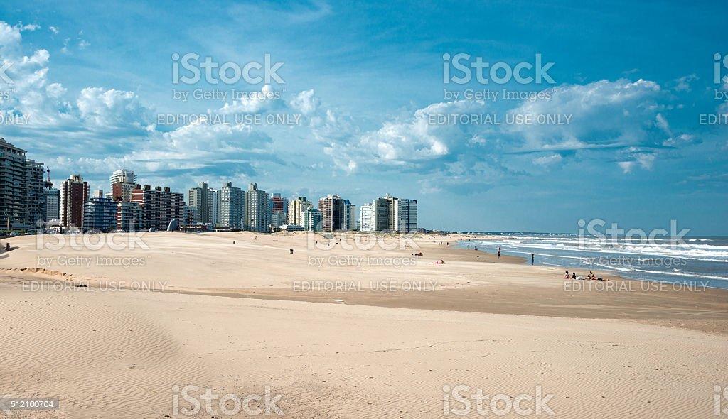 Punta del Este beach in Uruguay stock photo