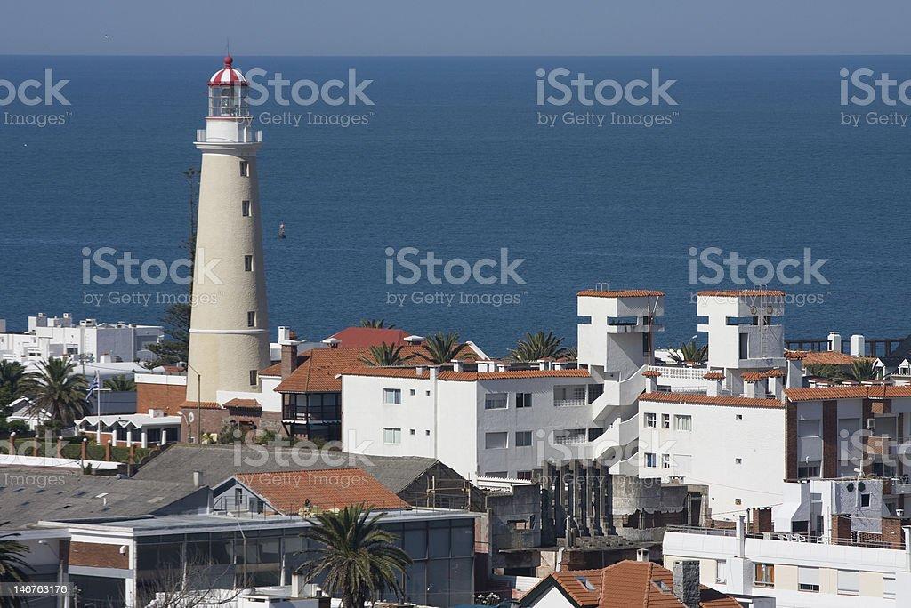 Punta del Este lighthouse stock photo