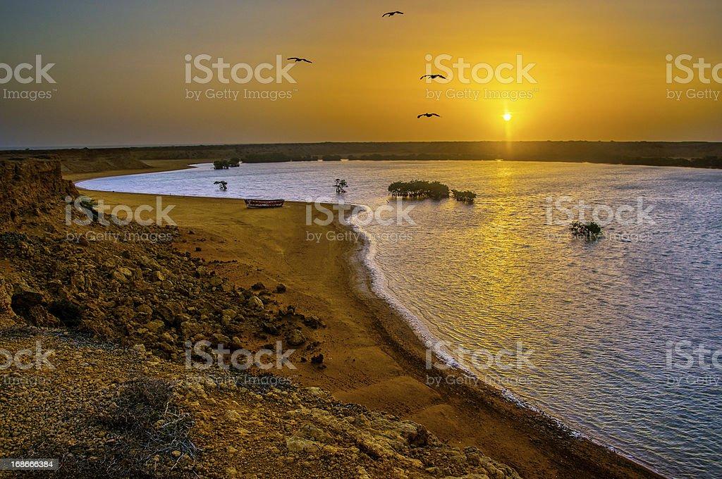 Punta Gallinas Sunrise stock photo