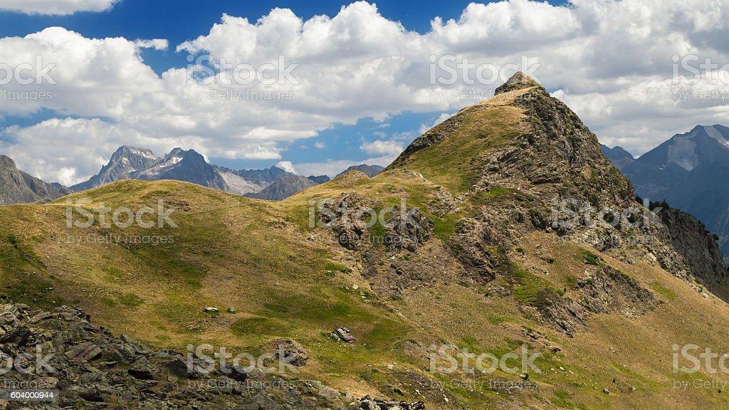 Punta Garganta Peak stock photo
