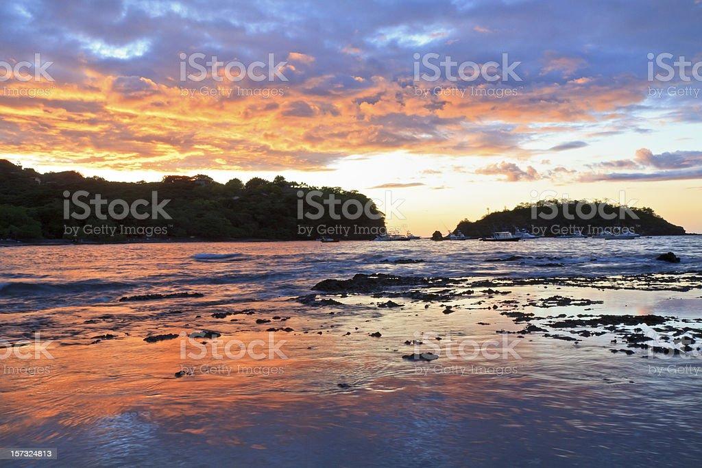 Punta Gorda Sunset stock photo
