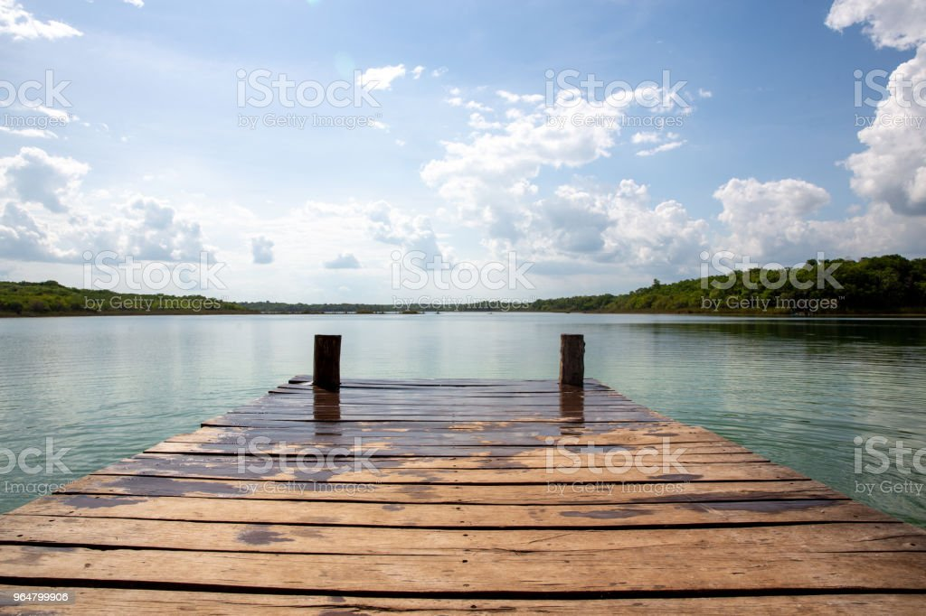 Punta Laguna, Mexican reserve lagoon royalty-free stock photo