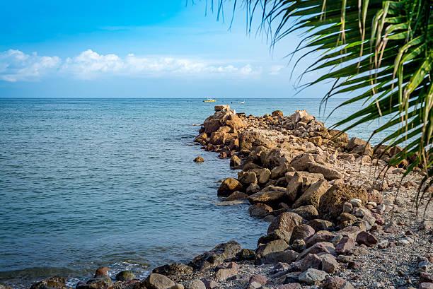 Punta mita breakwater Breakwater at el Anclote beach in Punta Mita groyne stock pictures, royalty-free photos & images