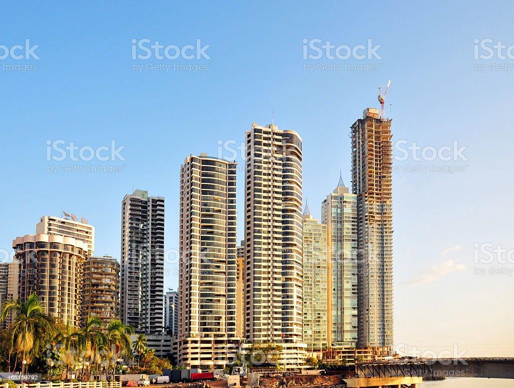 Punta Paitilla skyscrapers, Panama City stock photo