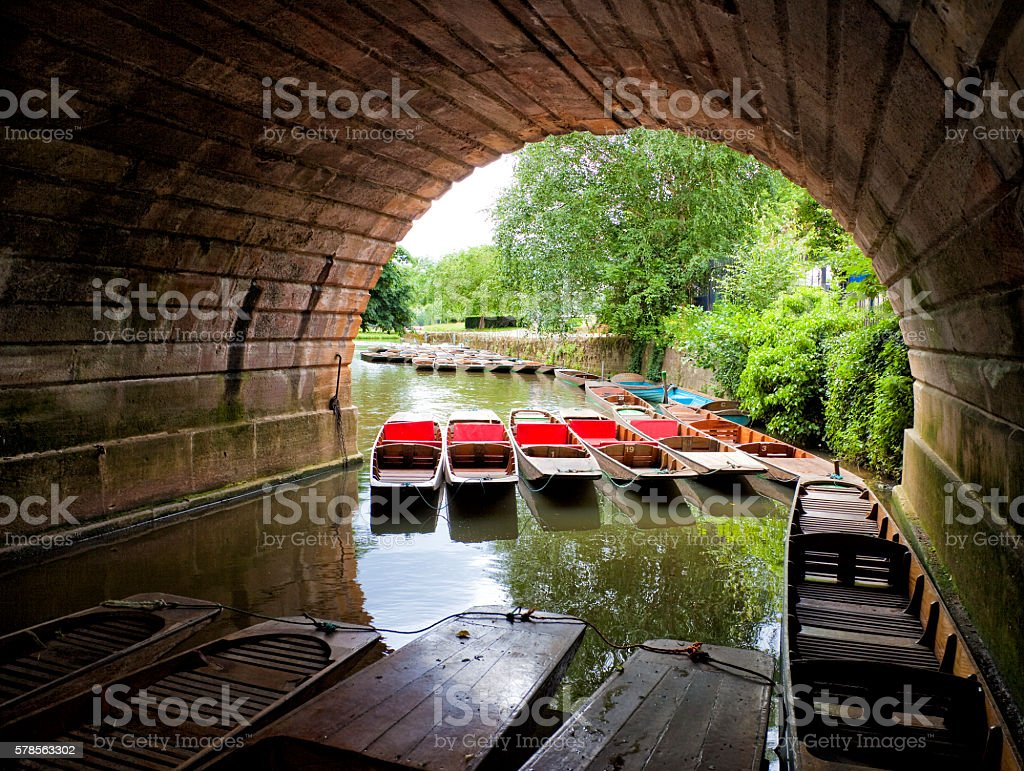 Punting in Oxford stock photo