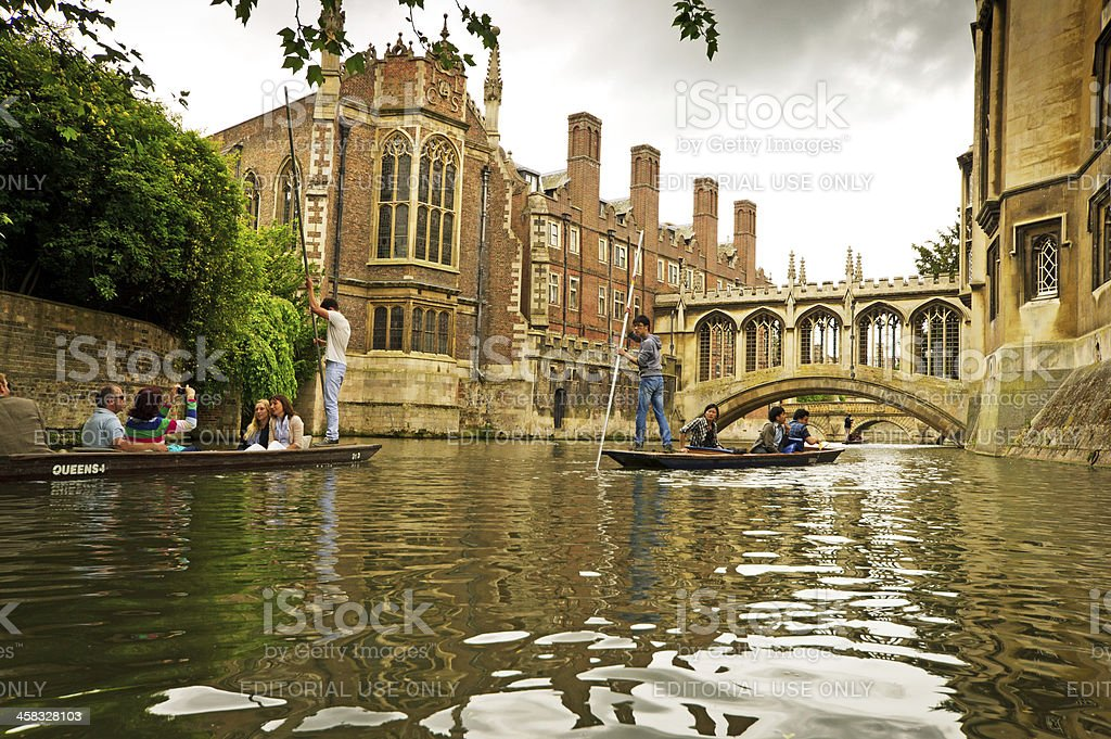Punting on the Cam stock photo