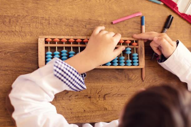 Pupils on class in school - foto stock