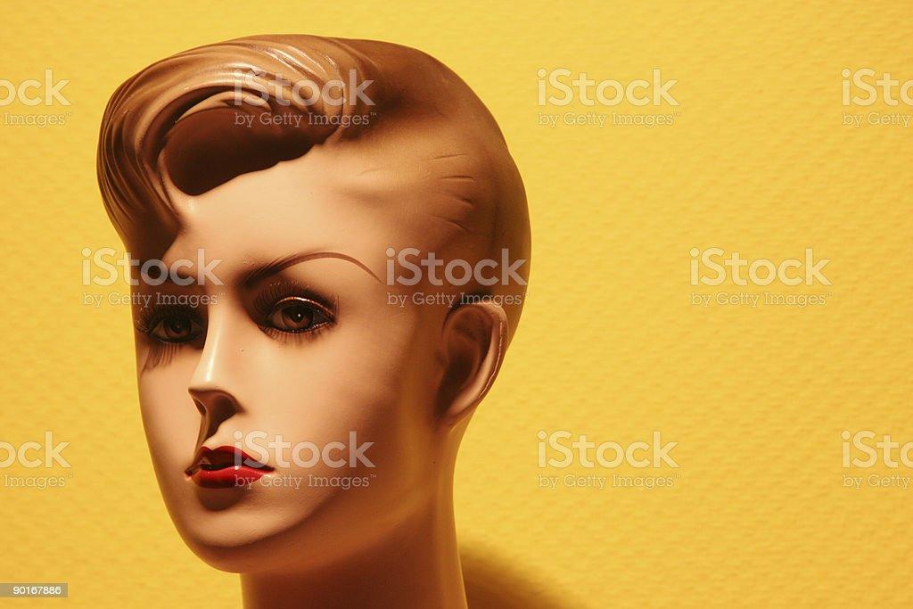 Puppet head royalty-free stock photo