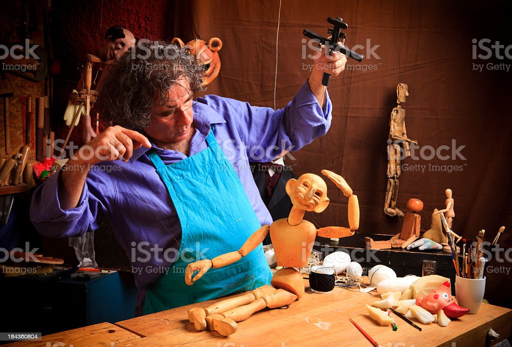 Puppet  Maker royalty-free stock photo