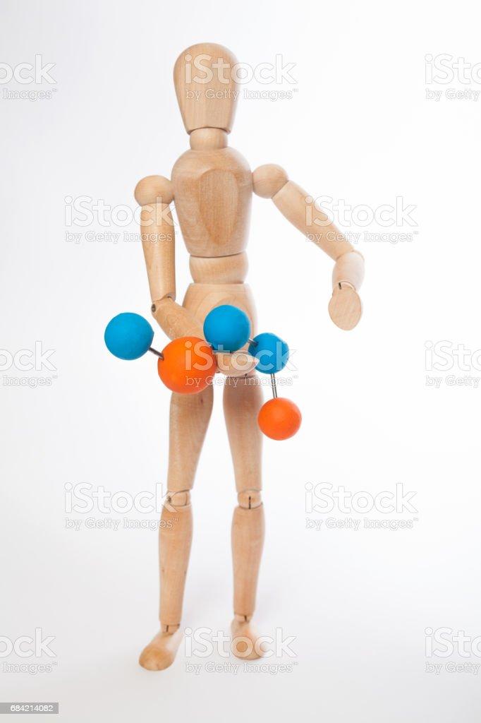 Puppet molecule royalty-free stock photo