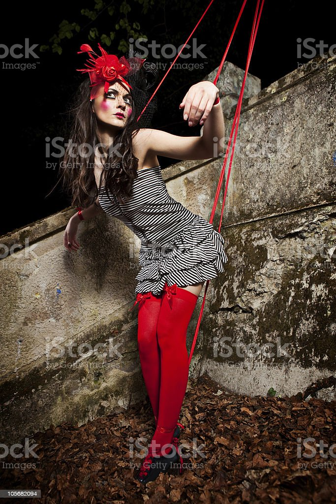 Puppet on a string royalty-free stock photo
