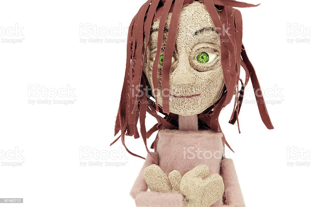 Puppet representing a girl royalty-free stock photo