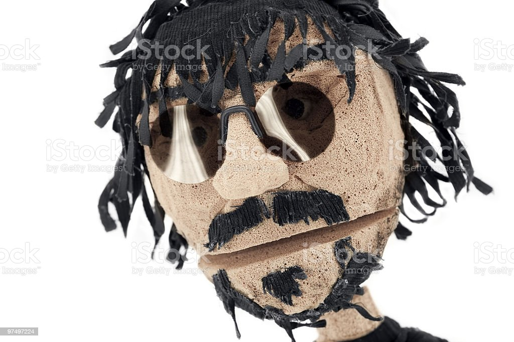 Puppet representing a man royalty-free stock photo