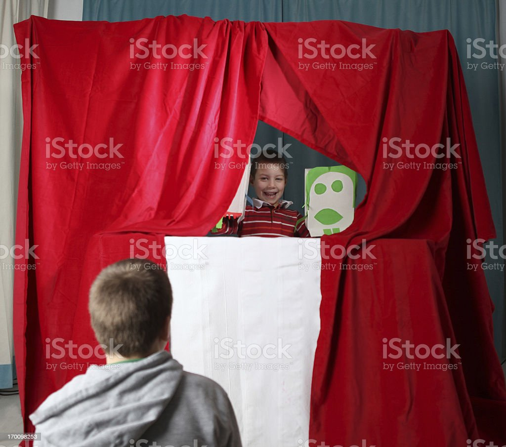 puppet show stock photo