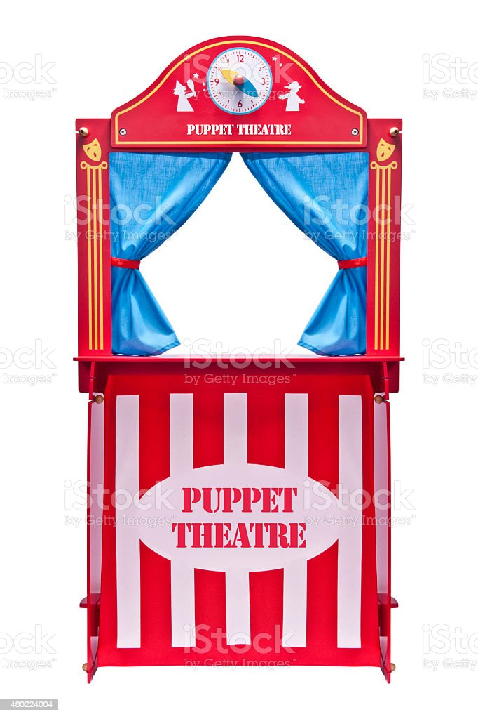 Puppet theater stock photo