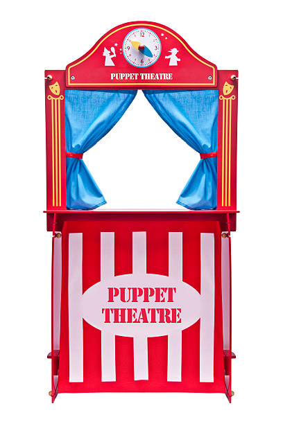 Puppet theater Puppet theater isolated on white puppet stock pictures, royalty-free photos & images