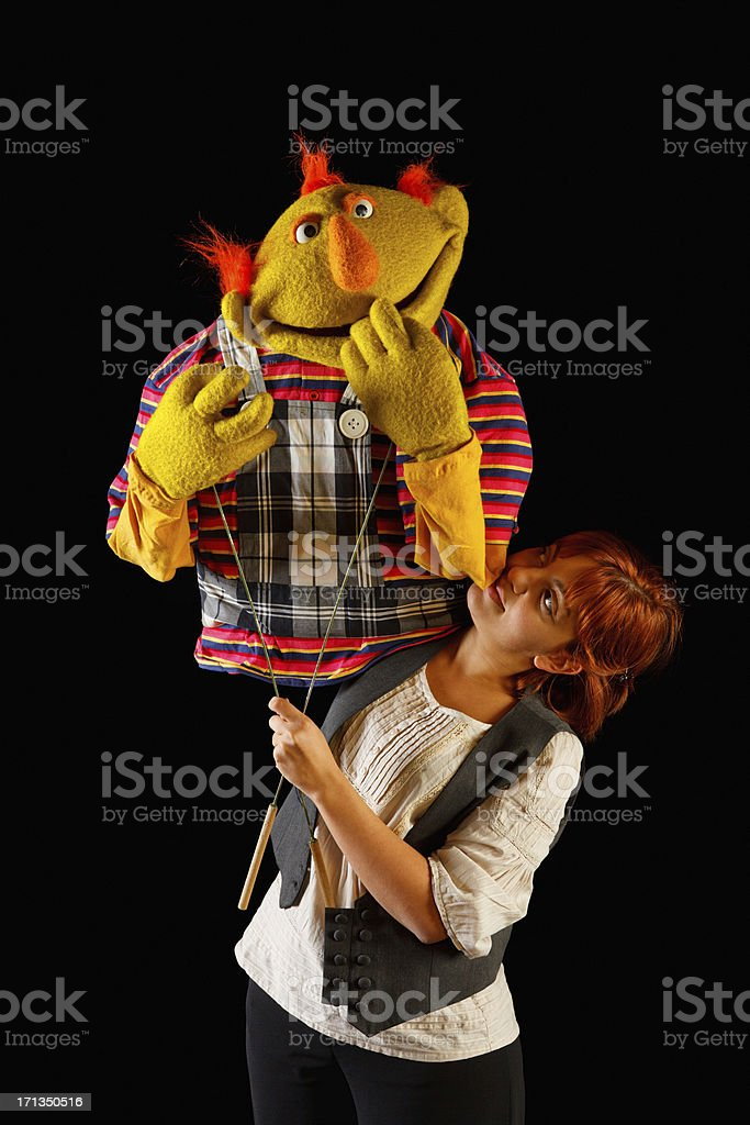 Puppeteer royalty-free stock photo