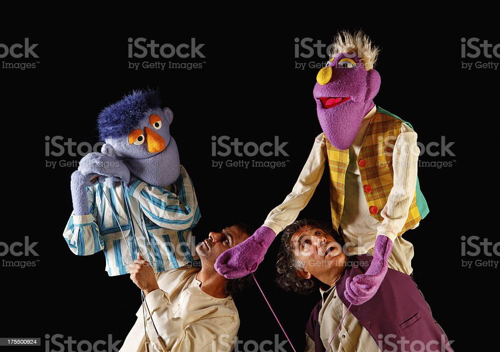 Puppeteers stock photo