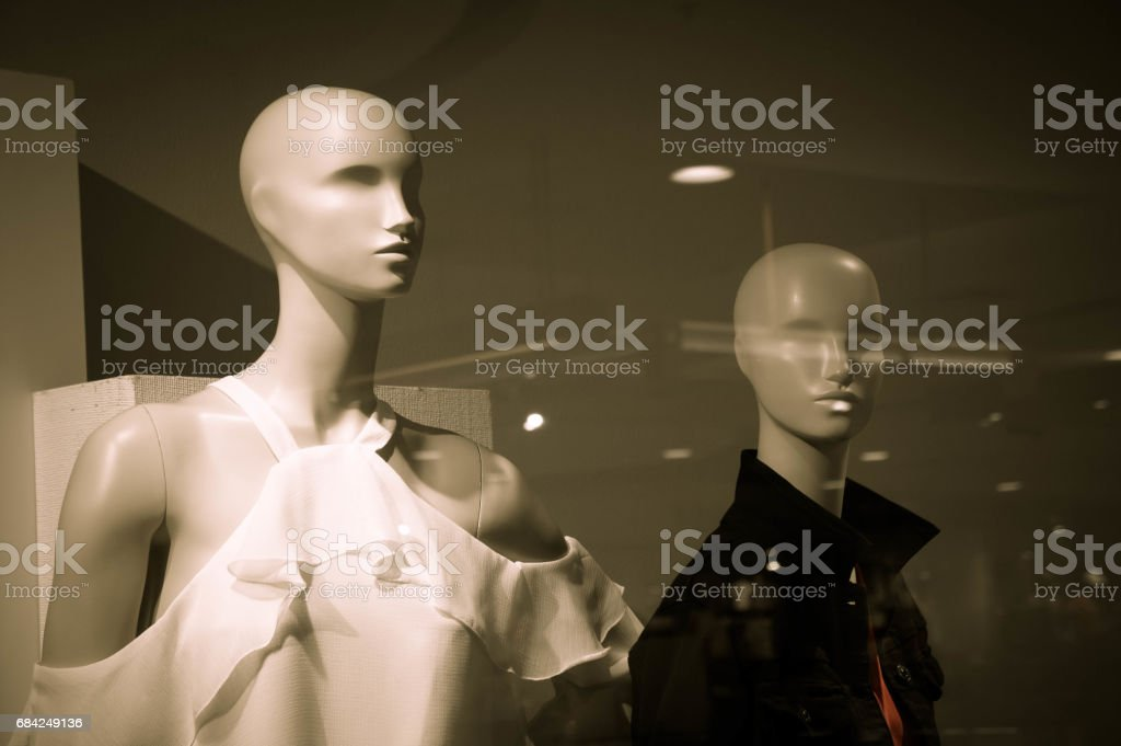 Puppets model  on Clothes shop royalty-free stock photo