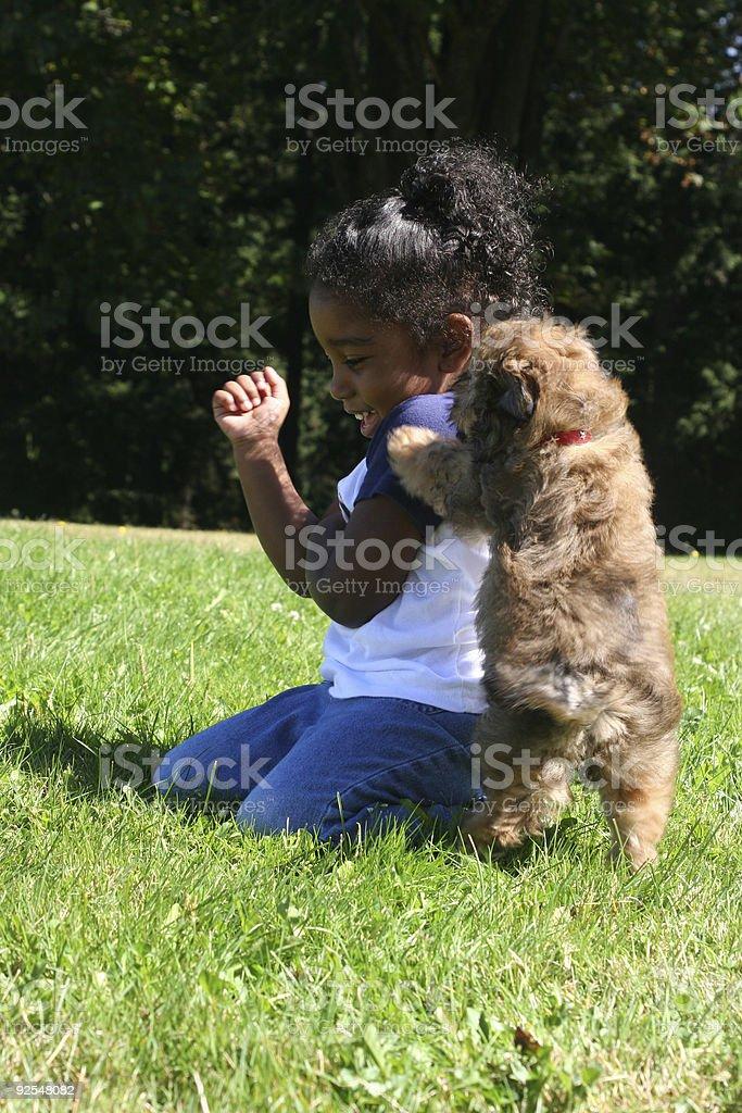 Puppy Kisses royalty-free stock photo