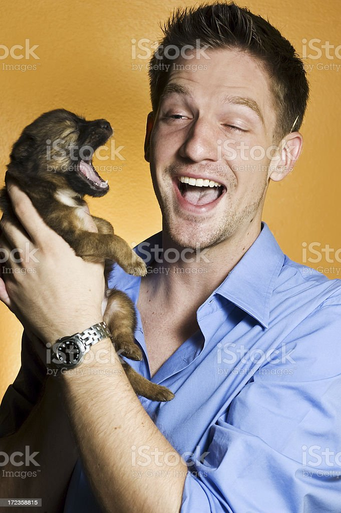 Puppy Love royalty-free stock photo