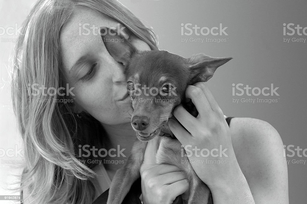Puppy Love royalty-free stock photo