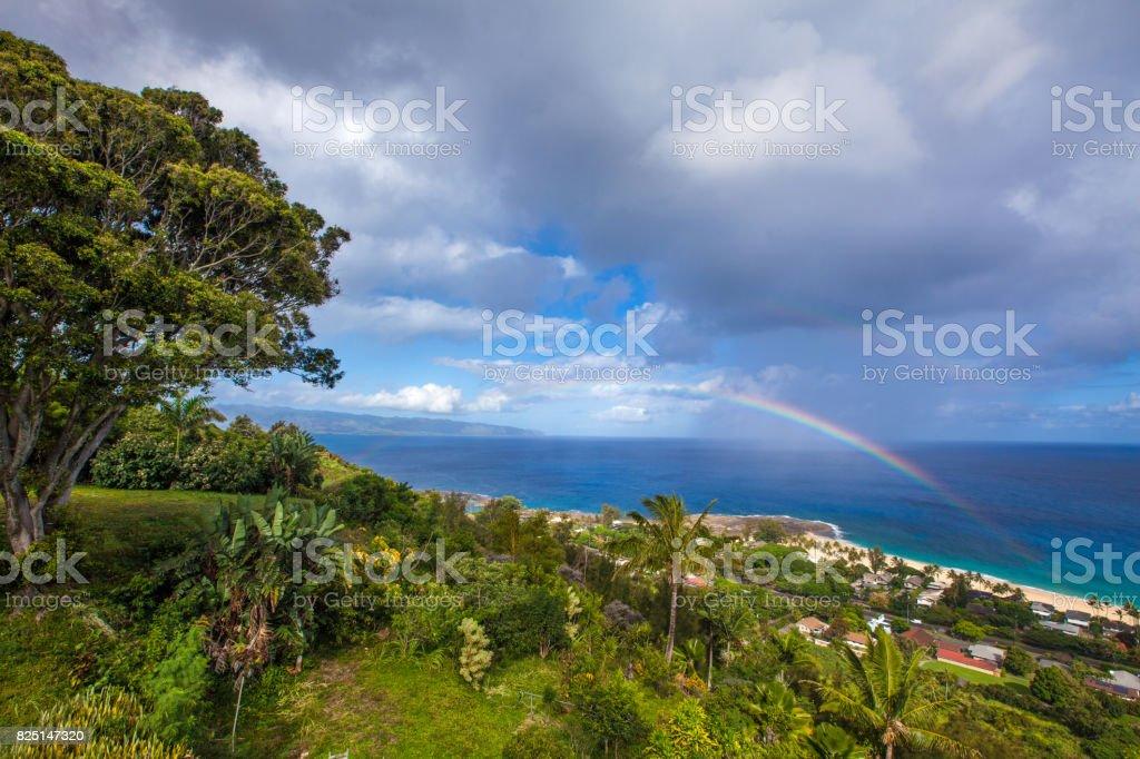 Pupukea Rainbow stock photo