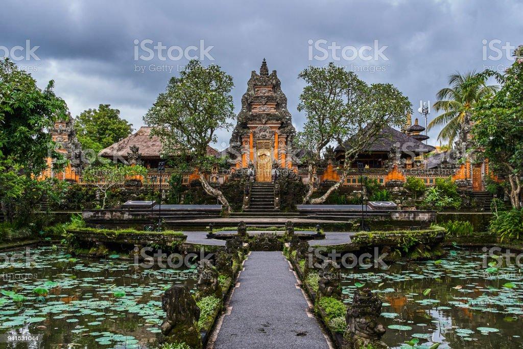 Pura Taman Kemuda Saraswati Temple In Ubud Bali Island Indonesia