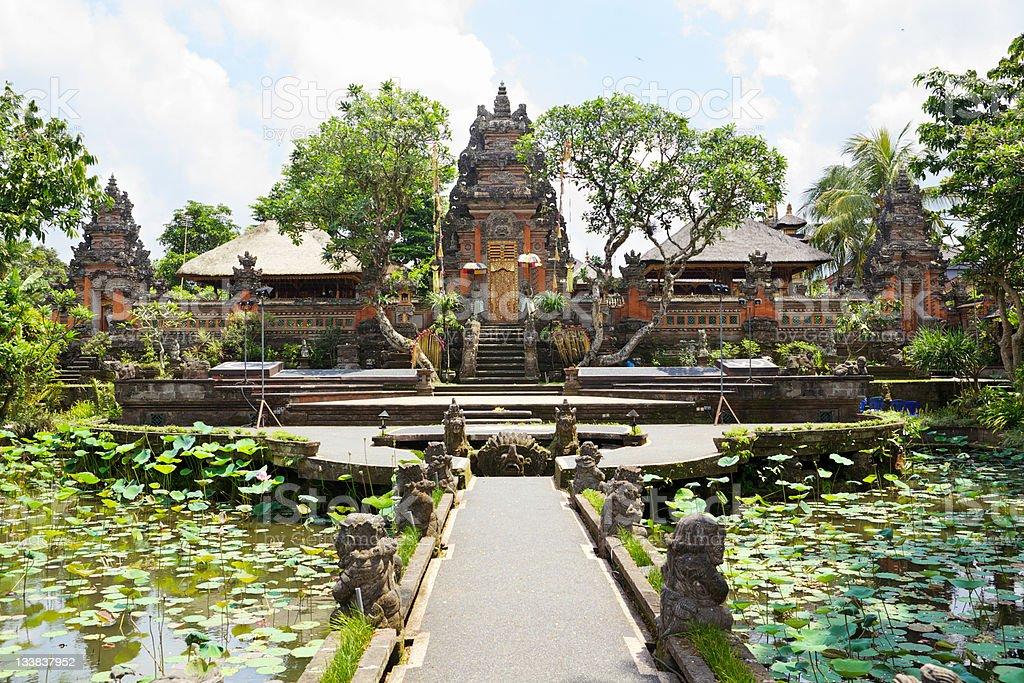 Pura Taman Saraswati front view stock photo