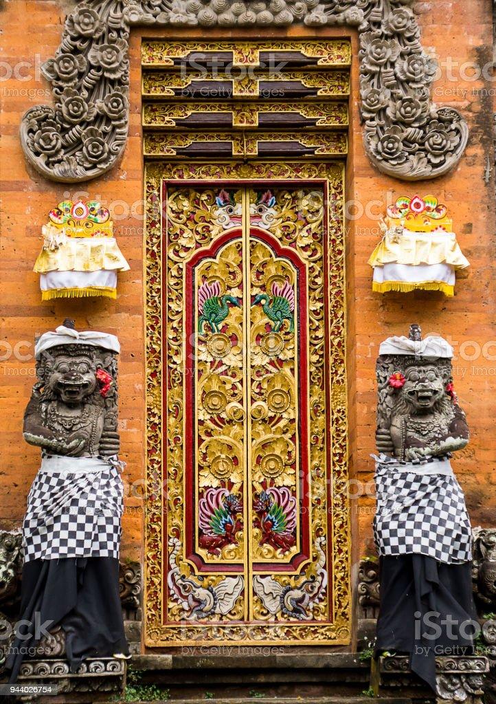 Pura Taman Saraswati Temple in Ubud, Bali stock photo