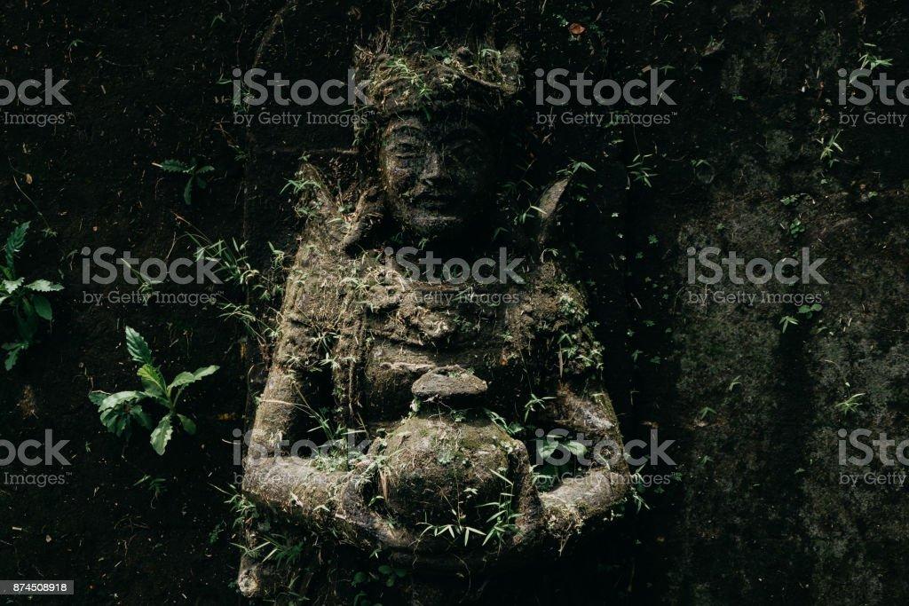Pura Taman Saraswati, Ubud Water Palace. Temple in Bali. Indonesia stock photo