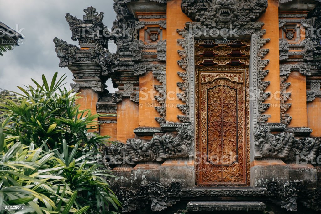 Pura Taman Saraswati, Ubud Water Palace. Temple in Bali, Indonesia stock photo