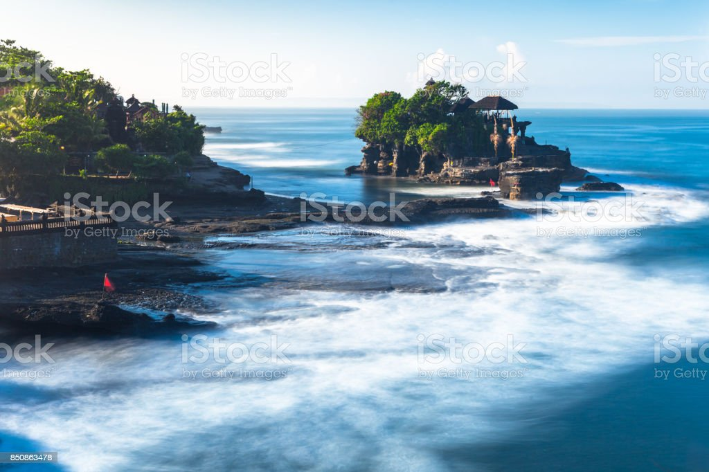 Pura Tanah Lot during sunrise, Bali royalty-free stock photo