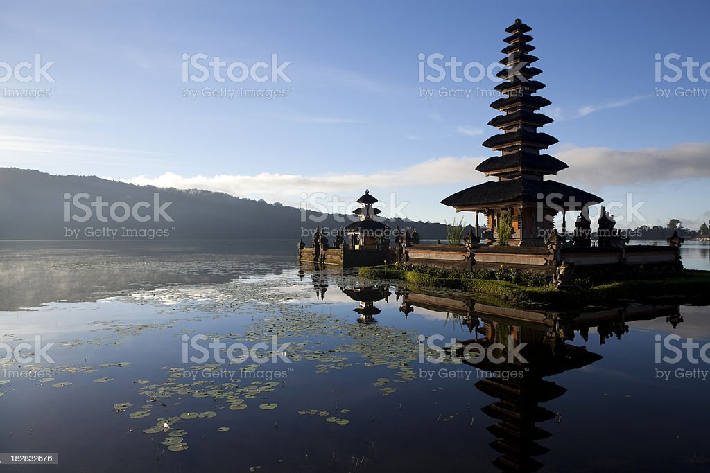 Pura Ulu Danau Bratan Bedugal Bali stock photo
