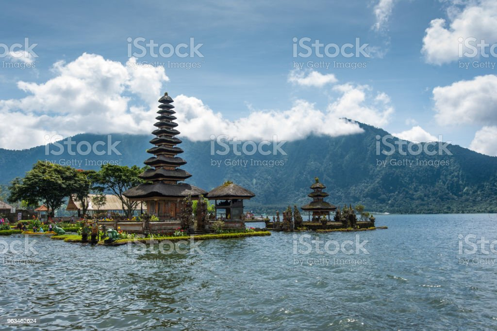 Pura Ulu Danau temple scenery in Bali,Indonesia stock photo