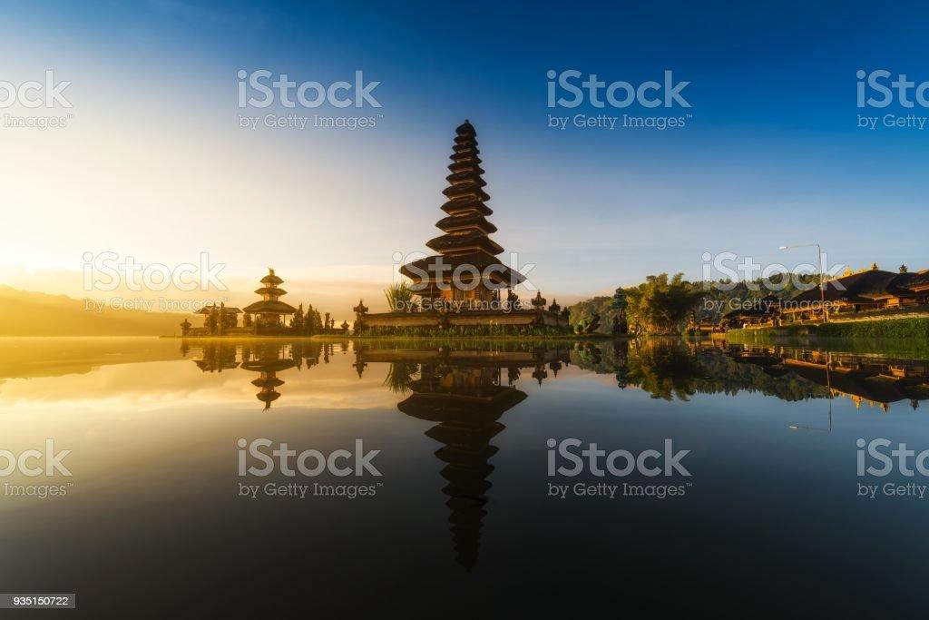 Pura Ulun Danu Bratan bali indonesia stock photo
