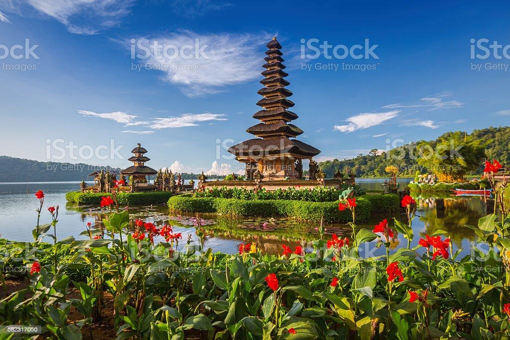 Pura Ulun Danu Bratan, or Pura Beratan Temple, Bali island stock photo