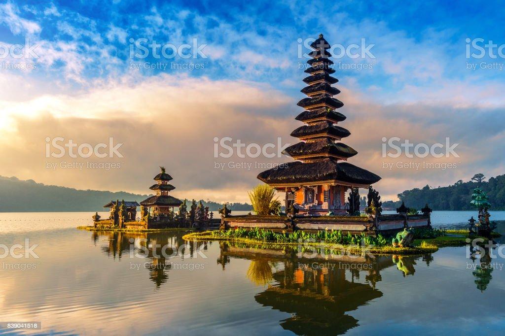 pura ulun danu bratan temple in Bali, indonesia. stock photo