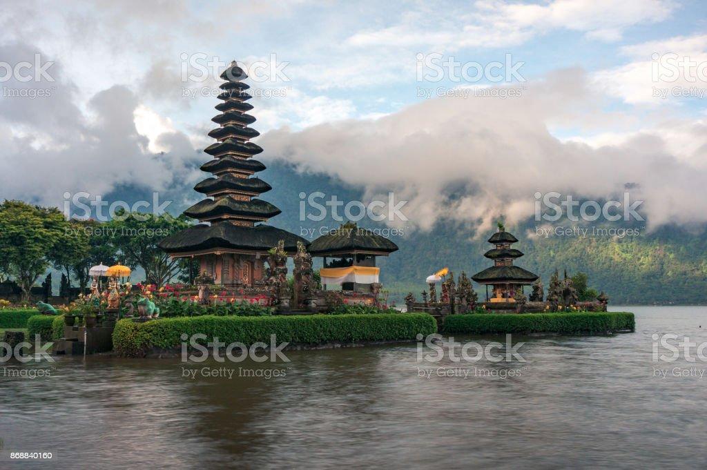 Pura Ulun Danu temple landscape stock photo