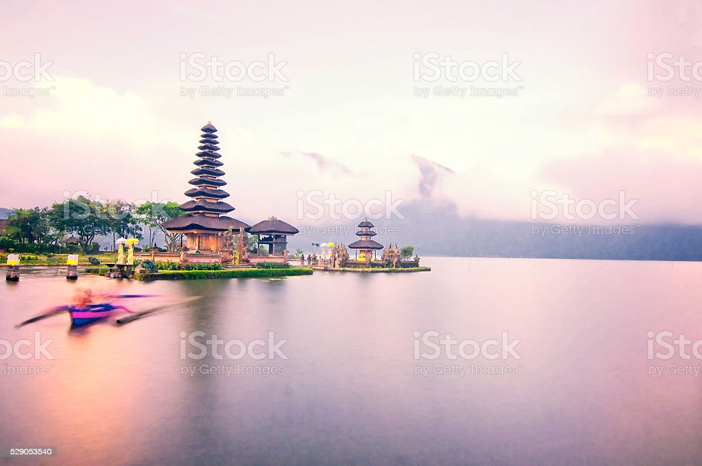 Pura Ulun Danu temple on a lake Beratan. Bali. Indonesia stock photo