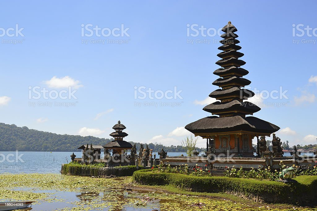 Pura Ulun Danu Temple royalty-free stock photo