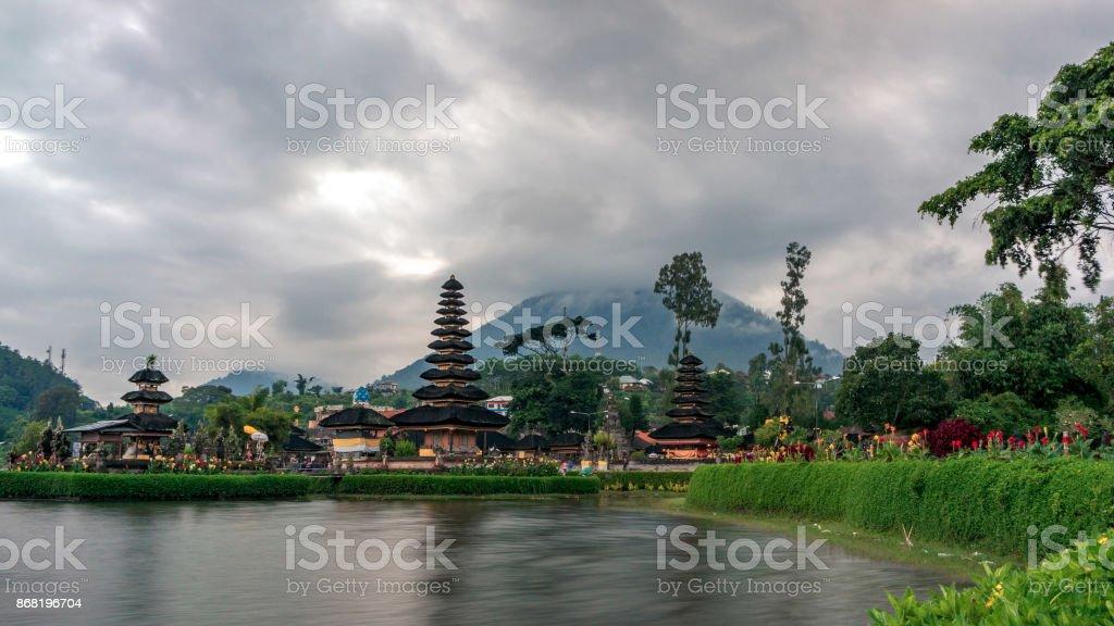 Pura Ulun Danu temple stock photo