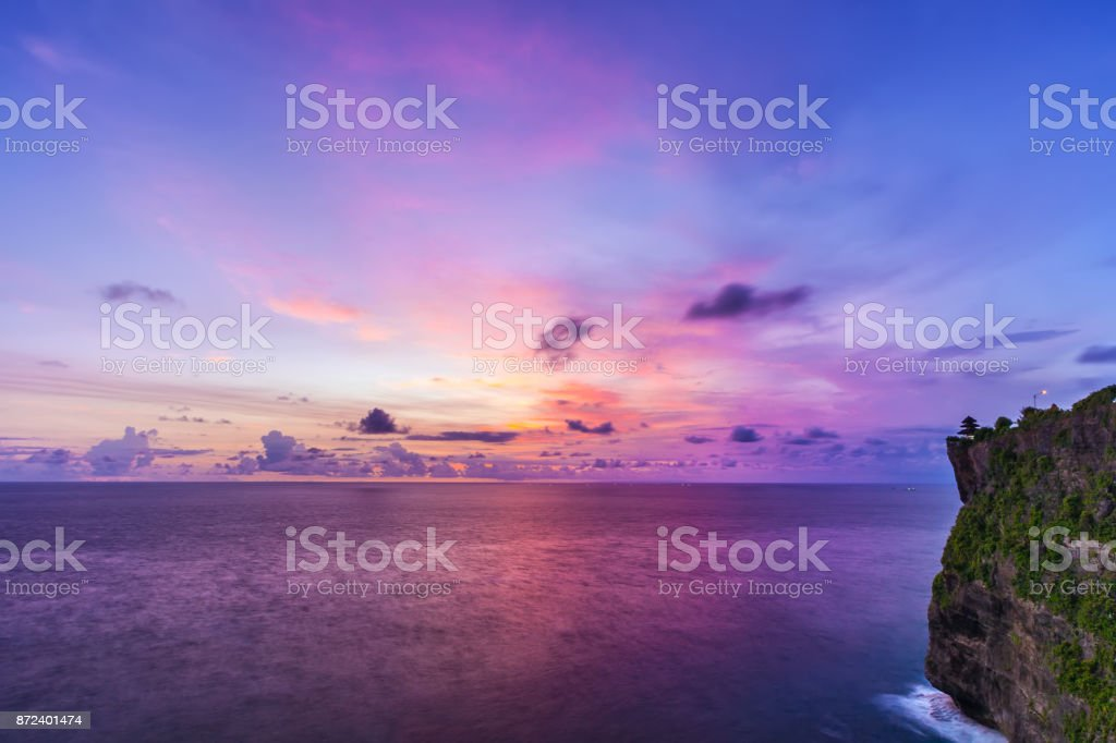 Pura Uluwatu temple, Bali, Indonesia. stock photo