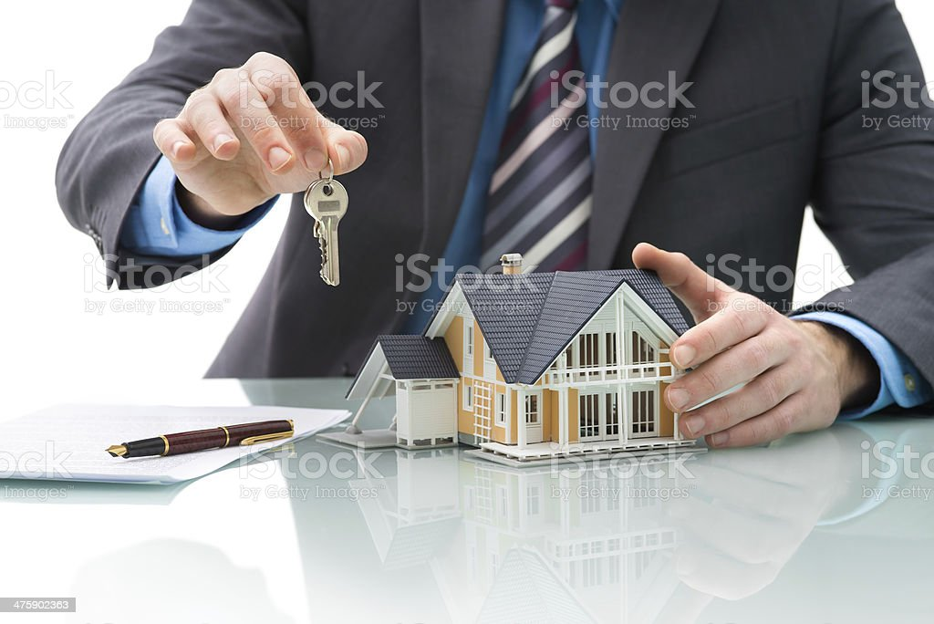 Purchase agreement for house stock photo