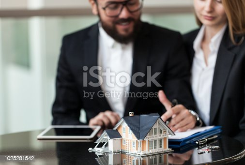 istock Purchase agreement for new house 1025281542