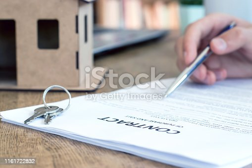 475902363 istock photo Purchase agreement for new house 1161722832